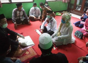 Prosesi akad nikah di wilayah kerja KUA Majasari, Pandeglang.